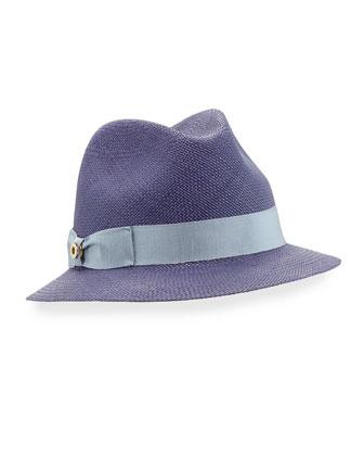 Mia Panama Hat, Blue