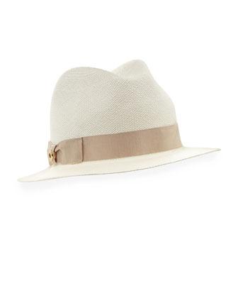 Mia Panama Hat, White