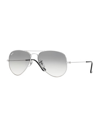 Original Aviator Sunglasses, Silver/Gray