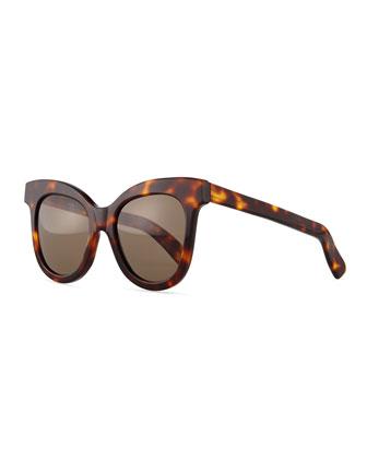 Holly Cat-Eye Sunglasses, Havana