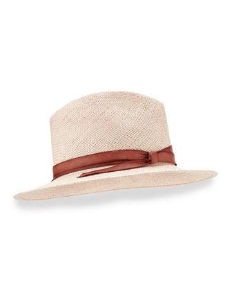 Indi Hand-Dyed Panama Hat, Rose