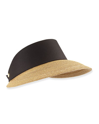 Champ Squishee Visor, Natural/Black