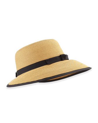 Squishee Sun Cap, Natural/Black