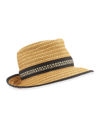 Big Deal Hat, Natural/Black