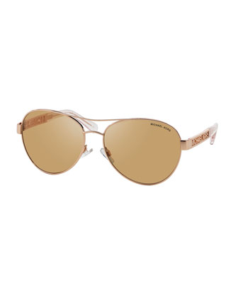 Cagliari Punched-Logo Aviator Sunglasses