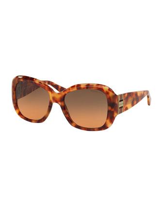 Miranda Leather-Temple Butterfly Sunglasses