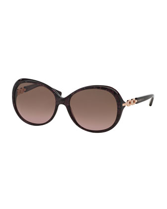Chain Link Butterfly Sunglasses, Pink