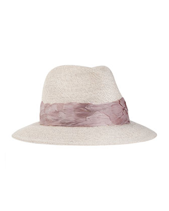Lillian Relaxed Flax Fedora