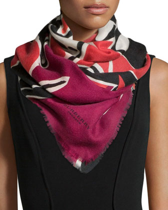 Insects of Britain Scarf, Rose