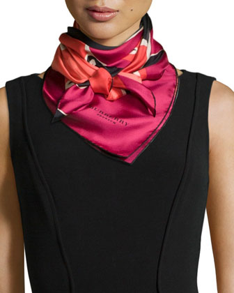 Insects of Britain Silk Scarf, Rose