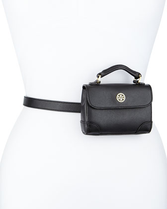 Robinson Saffiano Belt Bag, Black
