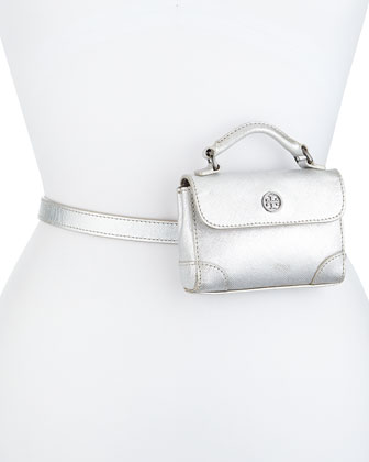 Robinson Metallic Belt Bag, Silver