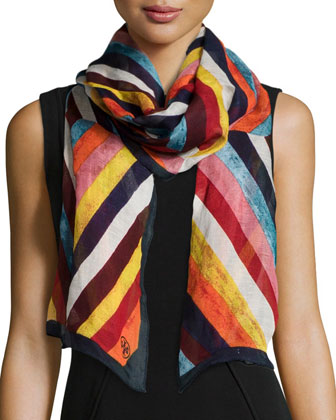 Diamond Oblong Scarf, Multi