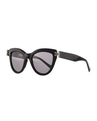 Discovery Cat-Eye Sunglasses, Black
