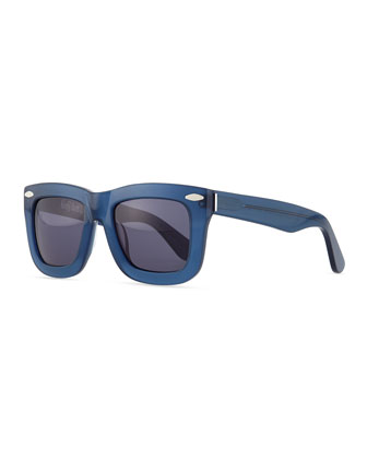 Status Thick Plastic Sunglasses, Blue