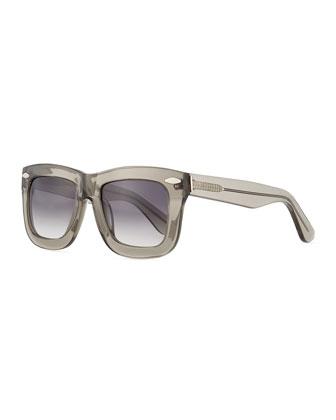Status Thick Plastic Sunglasses, Smoke