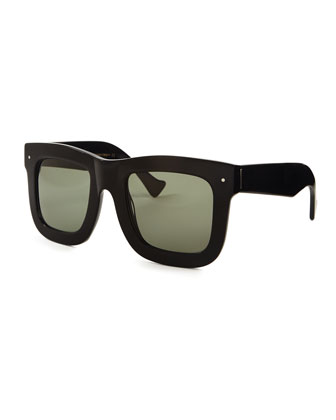 Status Thick Plastic Sunglasses, Black