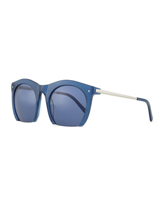 Foundry Cutoff Sunglasses, Blue