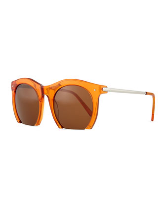 Foundry Cutoff Sunglasses, Sepia