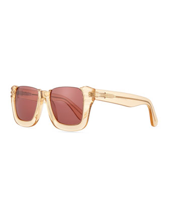 Top Off Rectangle Cutoff Sunglasses
