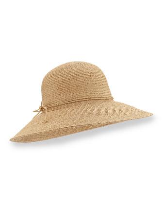 Sage Large-Brim Raffia Hat