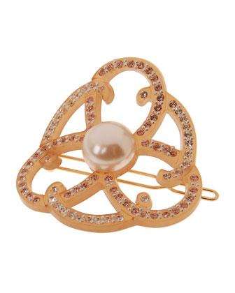 Elegant Swirls Crystal Barrette