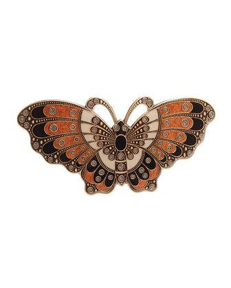 Artisan Butterfly Crystal Barrette