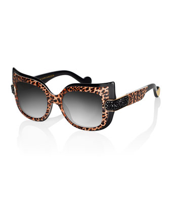 Leaving Cuckoo's Nest Sunglasses, Gold Leopard