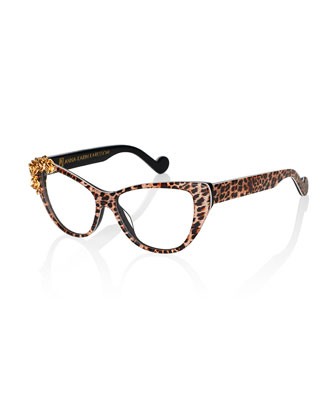 Lily Love Fashion Glasses, Leopard/Golden