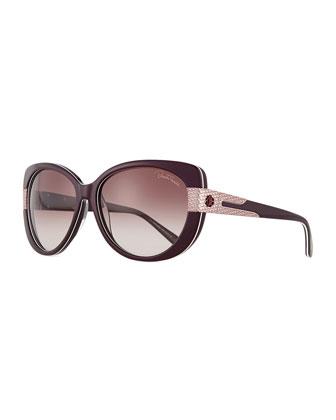 Plastic Round Sunglasses, Violet