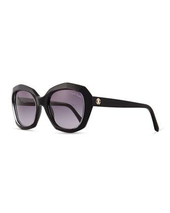 Plastic Butterfly Sunglasses, Black