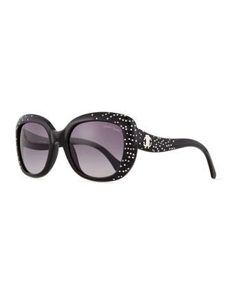 Plastic Square Sunglasses, Smoke