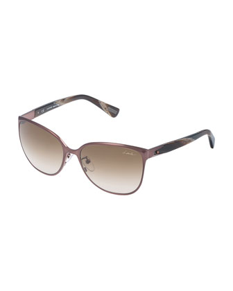 Pointed Square Sunglasses, Purple