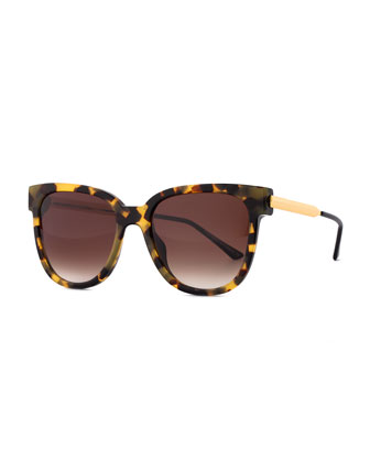 Flashy Butterfly Sunglasses, Havana