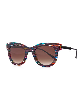 Limited Edition Rounded Square Sunglasses, Multi