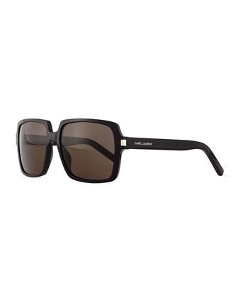 Large Square Sunglasses, Black