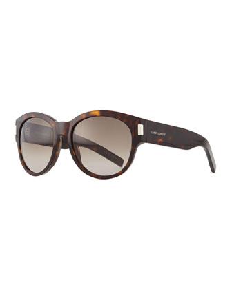 Round Butterfly Sunglasses, Havana