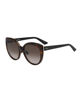 Diorific Butterfly Sunglasses, Havana