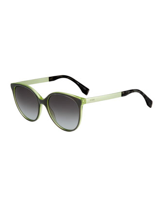 Butterfly Acetate Sunglasses, Olive