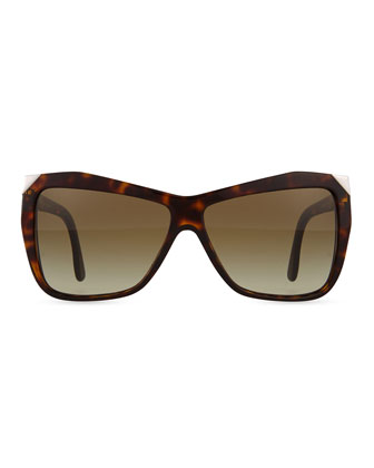 Square Sunglasses, Brown