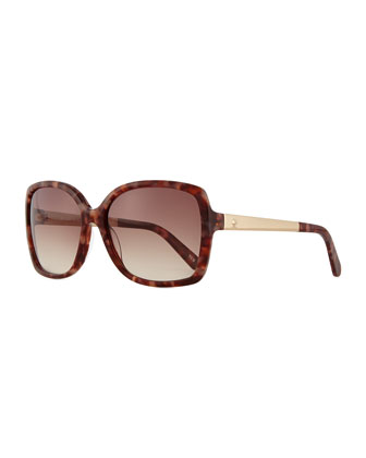 square oversize sunglasses, pink/brown