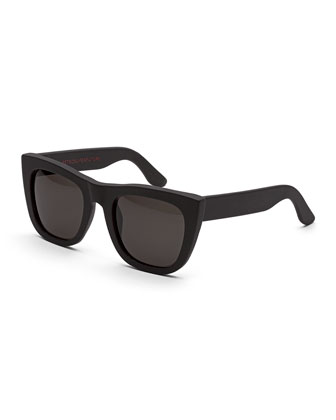 Gals Thick-Frame Sunglasses, Black