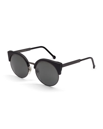 Ilaria Matte Sunglasses, Black