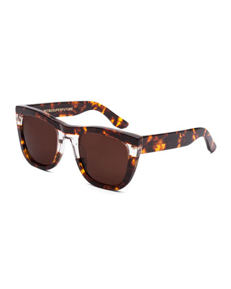 Gals Strata Tortoise Sunglasses, Brown/Clear