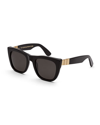 Gals Gianni Sunglasses, Black/Gold