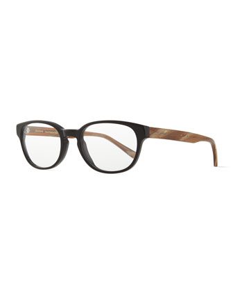 Kent Fashion Glasses, Black/Brown