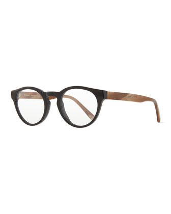 Stanley Fashion Glasses, Black/Brown