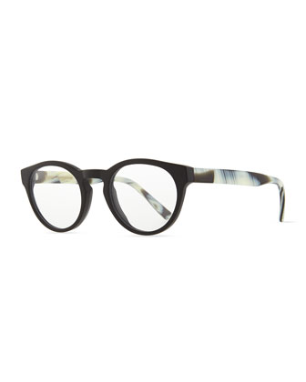 Stanley Fashion Glasses, Black/White