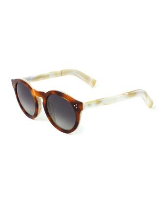Leonard II Sunglasses, Brown/White