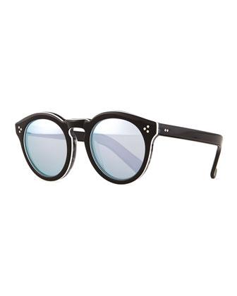 Leonard II Mirrored Sunglasses, Tuxedo